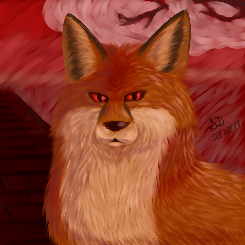 Somewhat realistic: Peaceful plain fox
