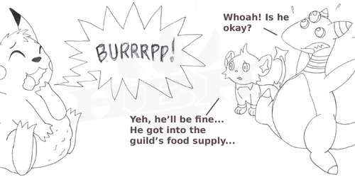 Pikachu is greedy little so and so!