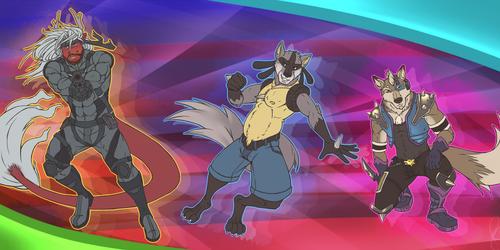 SMASH - Snake, Lucario, & Wolf