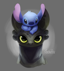 Thank you for 4K Toothless and Stitch