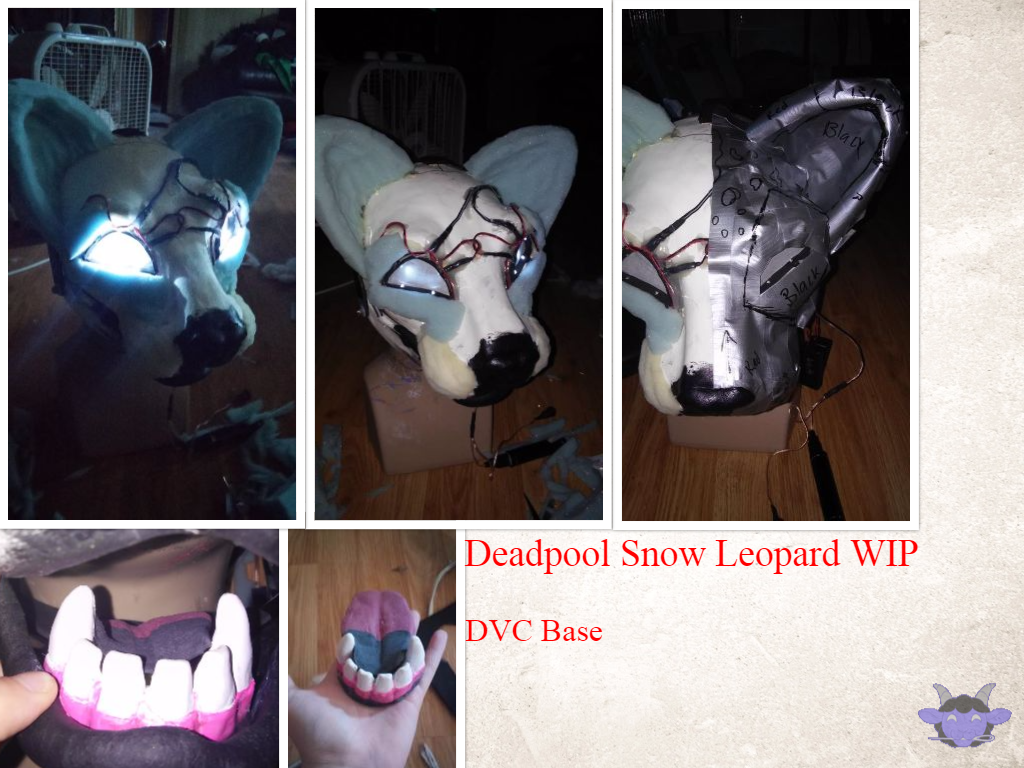 Most recent image: Deadpool Snow Leopard WIP