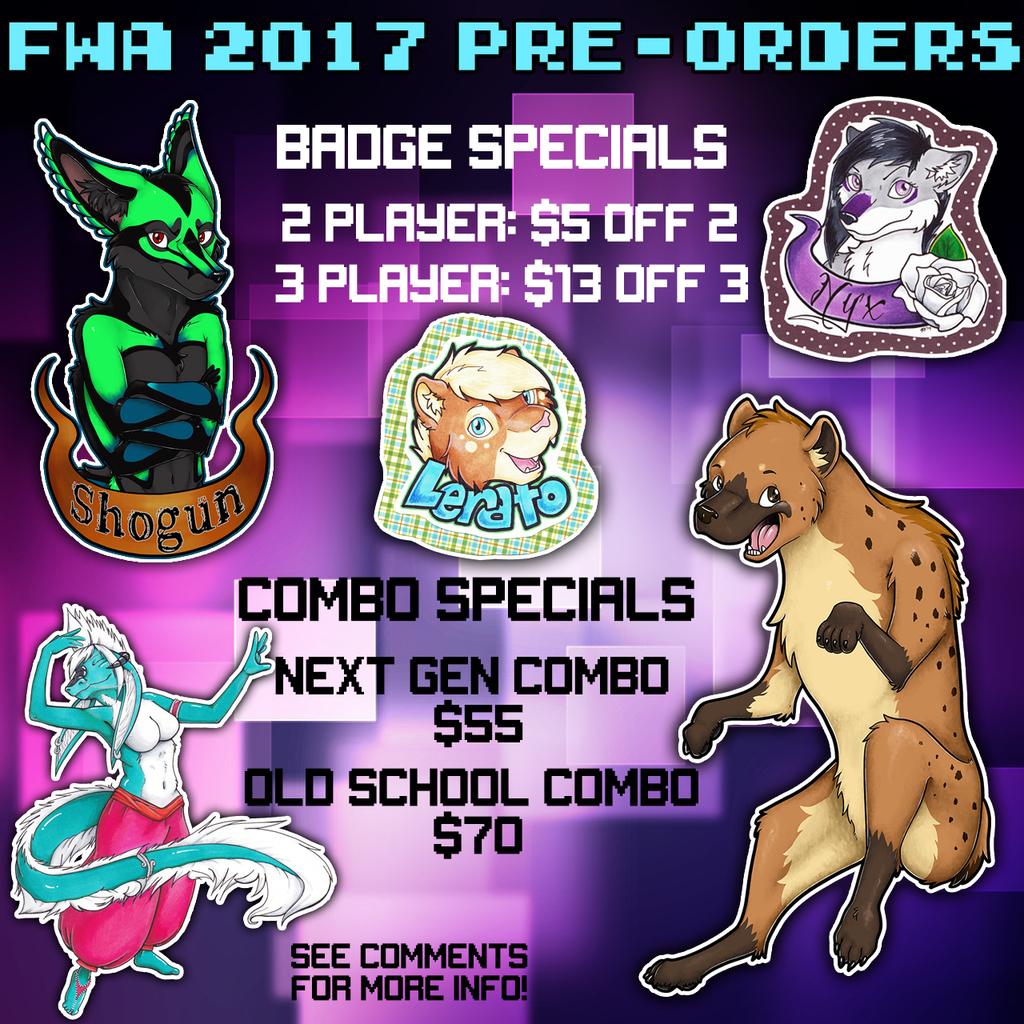 FWA 2017 PRE-ORDER SPECIALS