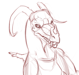 "Sketch - ""8-ball"" the Angel-dragon."