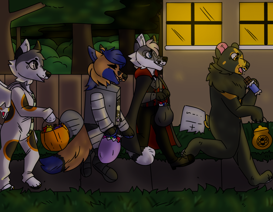 Halloween YCH for Paper-Wings