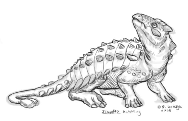 Dinovember - 1 - Ziapelta hatchling