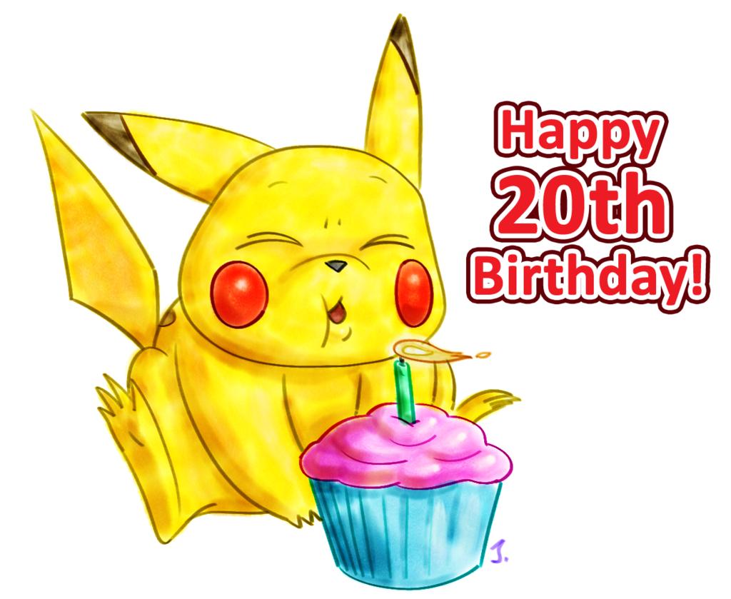 happy 20th birthday  pokemon  weasyl cute cupcake clip art free white frosting Cute Cupcake Art