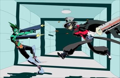 Don't bring guns to an interdimensional sword fight