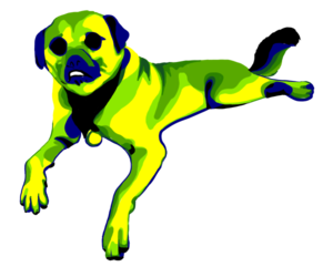 Dog vector-lookin commission