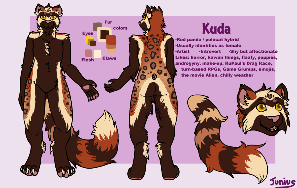 Most recent image: Ref Sheet Commission- Kuda