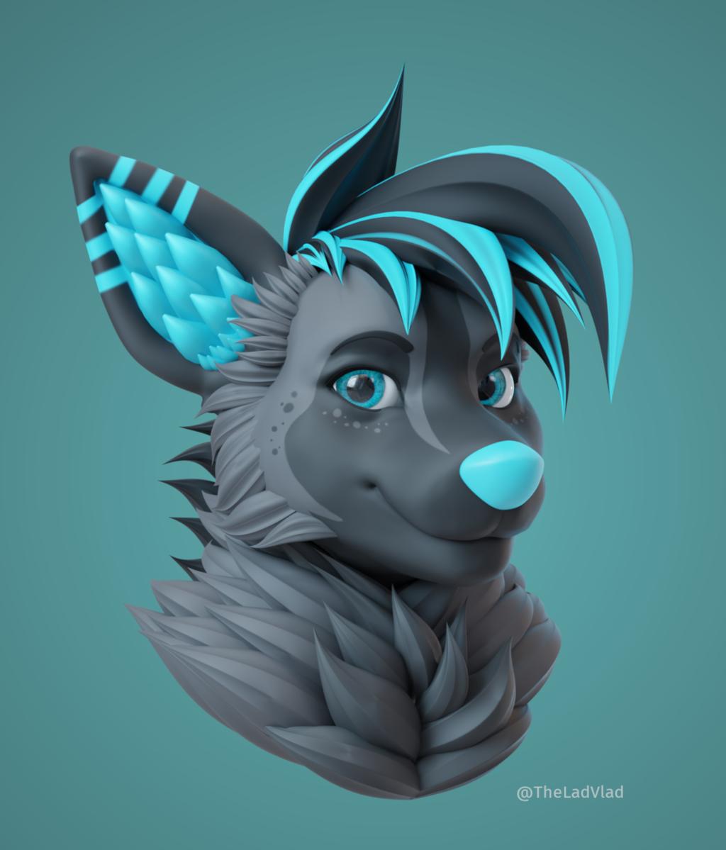 Sparky 3D Bust