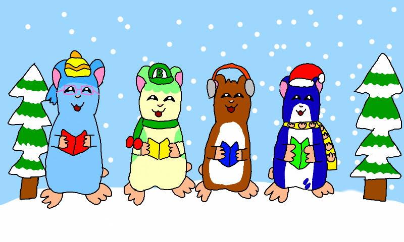 Hamster Pals' Christmas Caroling