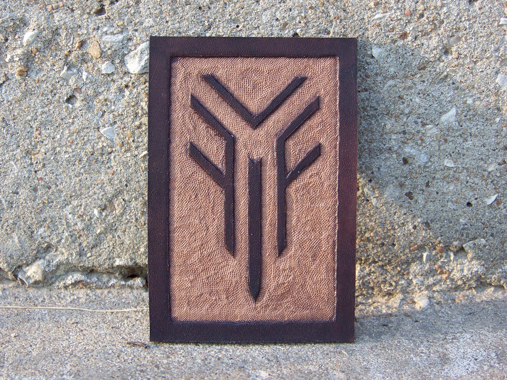 Leather Projects - Niv Symbol (Badge?)