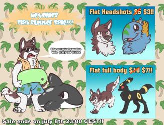 Flat Summer Sale!(Reminder)