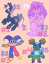 $3~$8 assorted leftover adopts [OPEN]