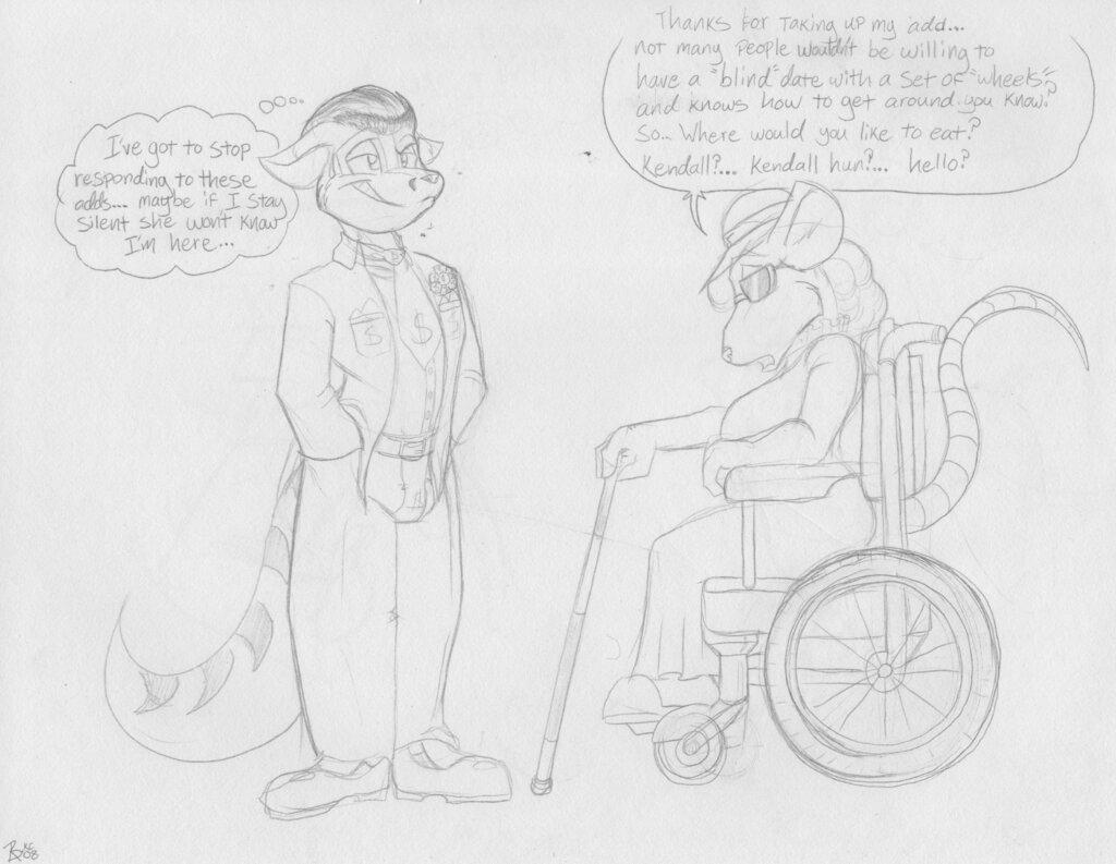[Old Art] Blind Date by Badgerben