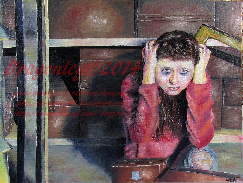 Kylee in the Corner (Oil Paint)