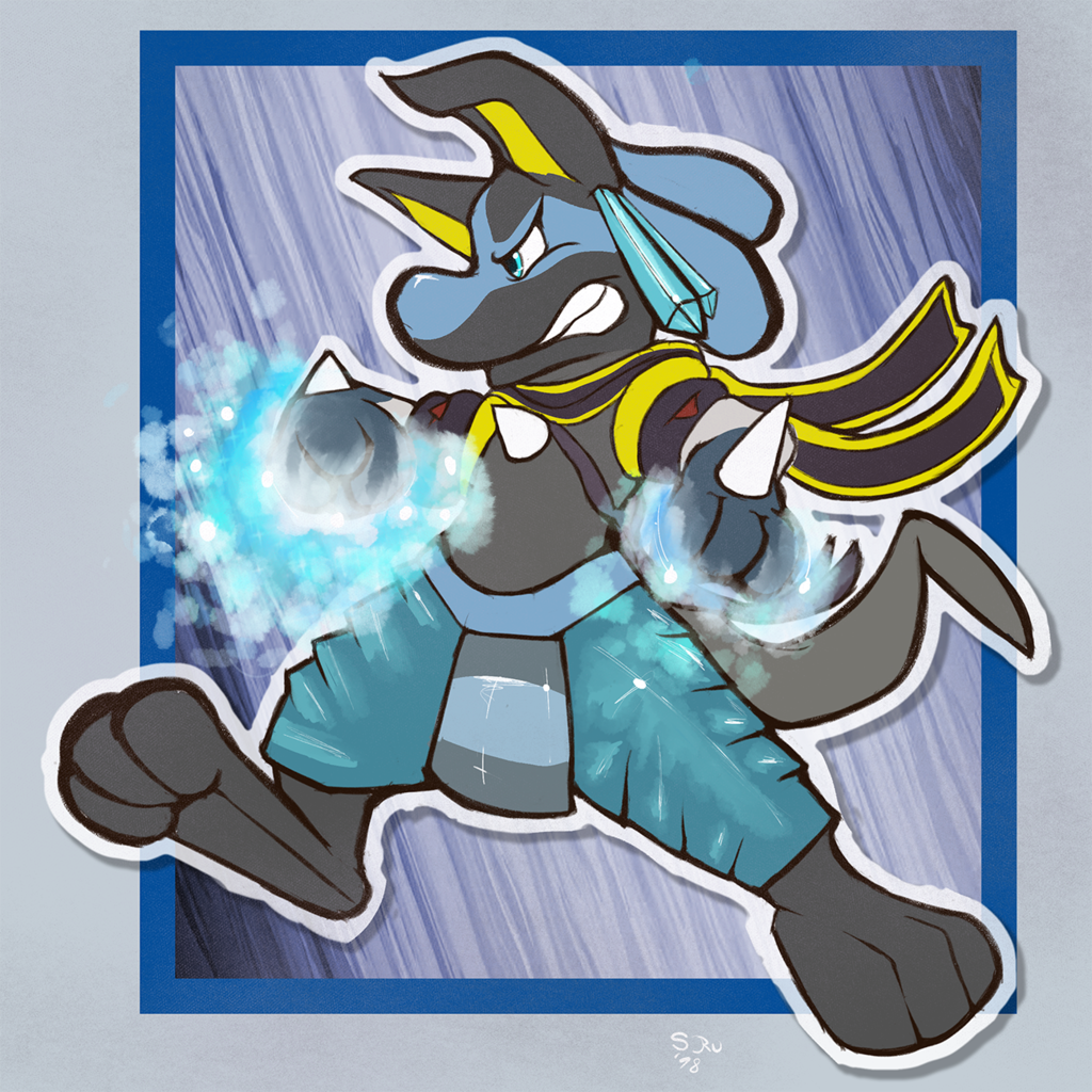 Most recent image: Lucario used Ice Punch