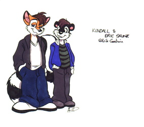 [Old Art] Kendall and EricSkunk Color by Cirrus
