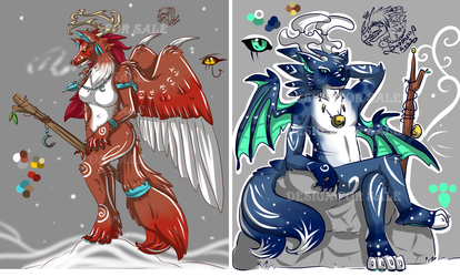 Antler Werekitsune Siblings +Designs or sale+ SOLD!!!!