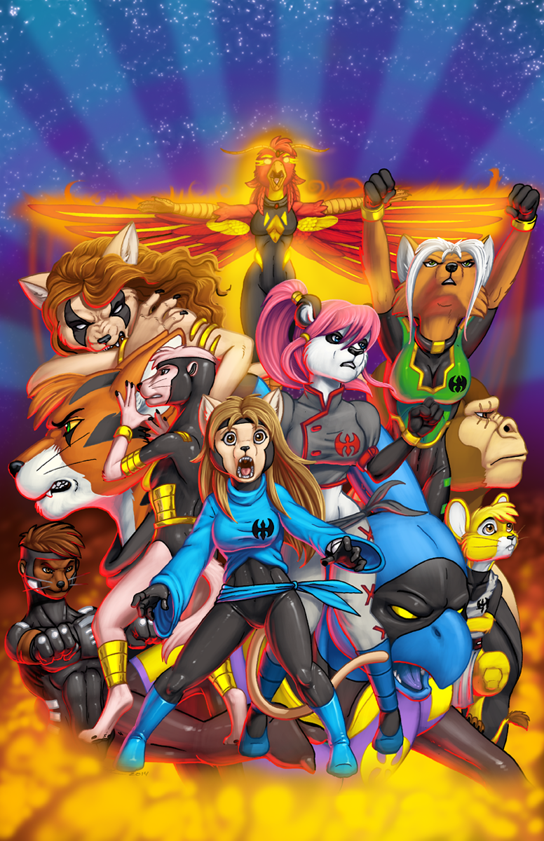 Extinctioners Trade Paperback Cover: Color!