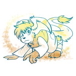 Teal and Gold Rhea