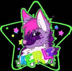 Kerli rave themed badge