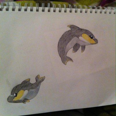 Fyre the dolphin (gift art)