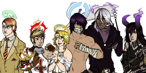 Old Art- A Gaggle of Guys