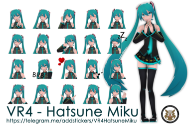 [Telegram Pack][VR4 - Hatsune Miku]