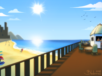 [Commission] - Peaceful Beach
