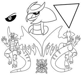 Male Giratina Ref Sheet +1/2 Commission WIP+
