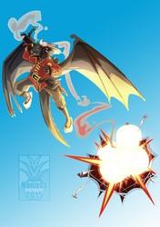 Screaming eag...dragons ! - By Niv100