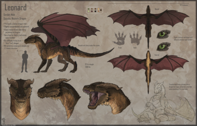Leonard- A Dragon's Reference Sheet
