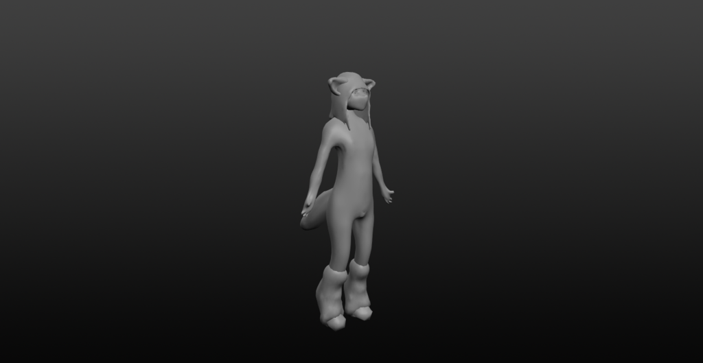 Most recent image: Fox Femboy 3D Model wip