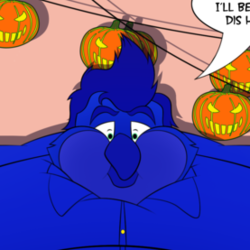 A Blue Halloween (Collab w/ Story!)
