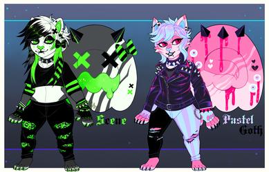 Scene and Pastel Goth Cinnacats