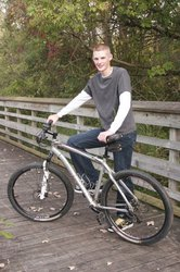 senior pic: me and my bike