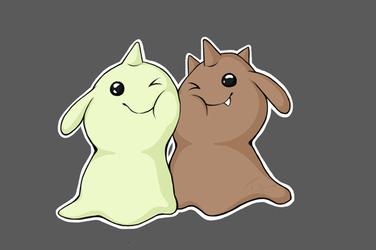 Gummymon and Kokomon