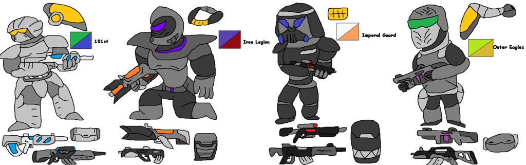 Human Faction Armors(with stories)