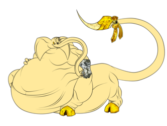 Jin as an elephant : redrawn (3)