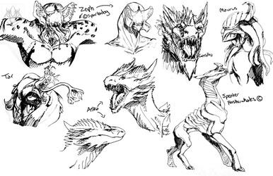 Inktober Sketches 1