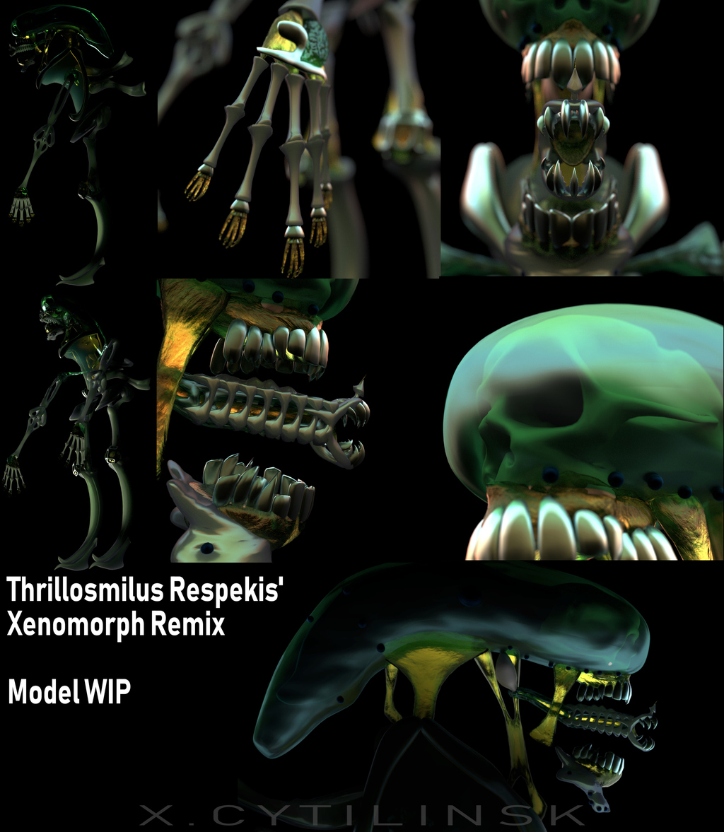 Xenomorph Remix 3D WIP