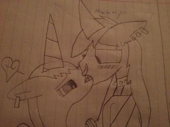 Caught Kissing a god... Ponybrine x Zalmmuna