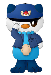 Officer Wattson the Oshawott Reporting for Duty