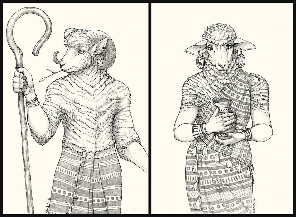 Shepherd and milkmaid