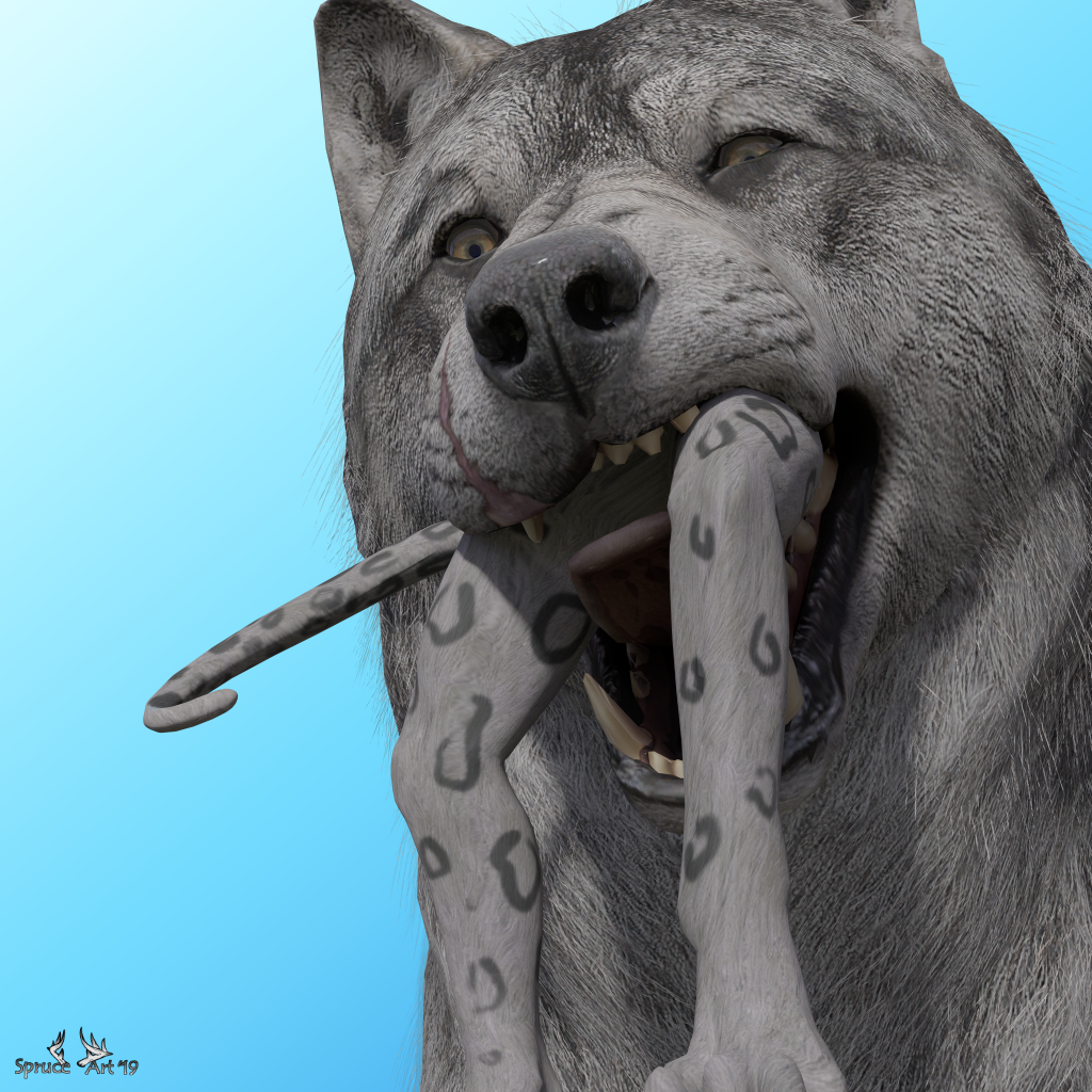 Most recent image: Wolf Noms!