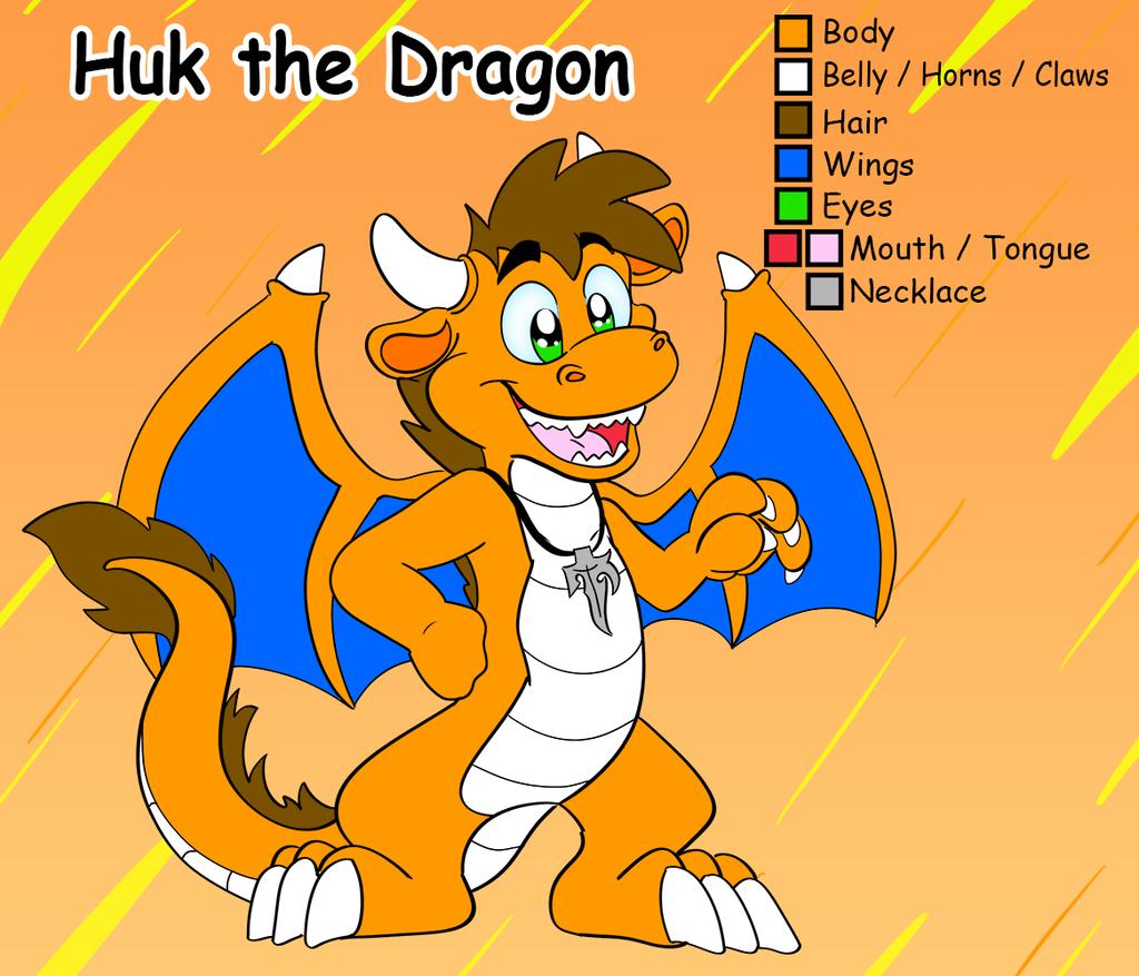 Huk the dragon reference sheet