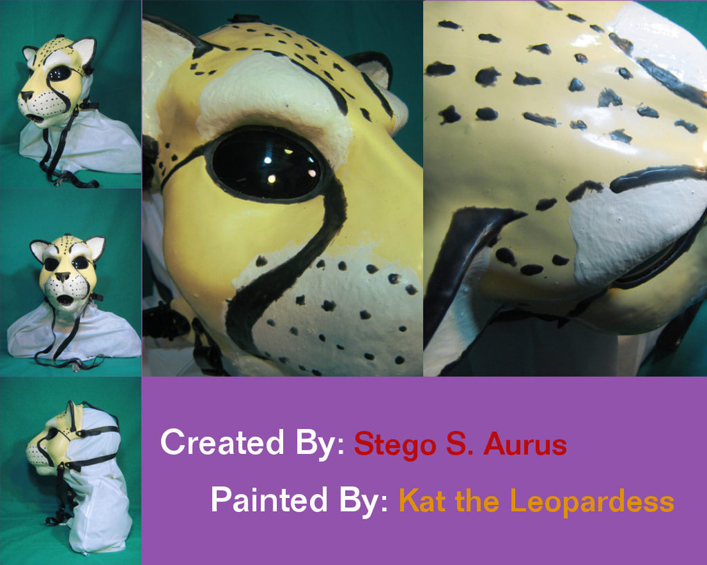 Painted Gas Mask: Kauko Cheetah