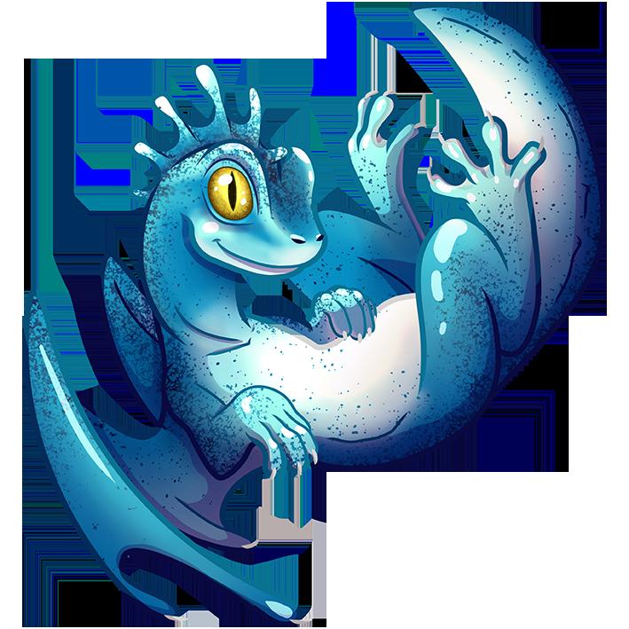 Dragon gecko bleu