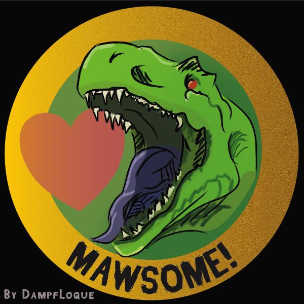 [Merch Design] Mawsome - TRex